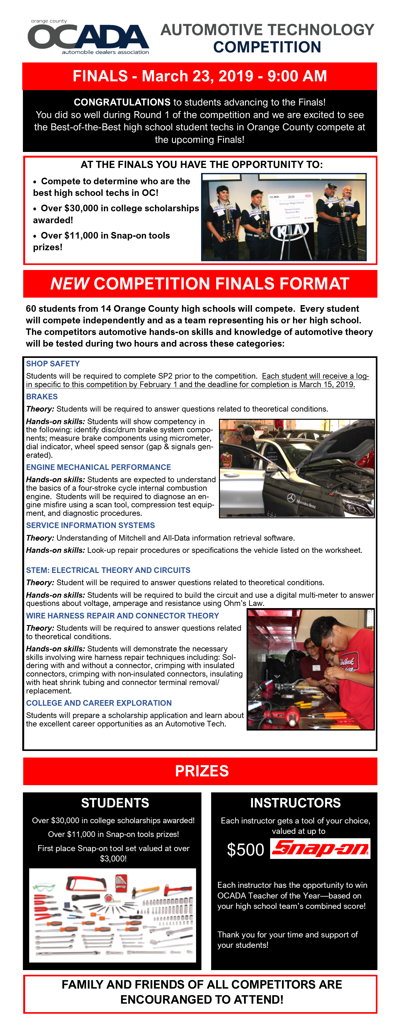 OCADA High School Automotive Technology Competition